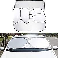 ZYHW 6 件套车窗遮光帘,折叠挡风玻璃遮阳罩套装,适合不同尺寸的挡风玻璃