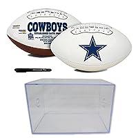 Jarden Sports Licensing/Pro-Mold 官方全国橄榄球联盟粉丝店正品 NFL 签名系列*碗球和展示盒。 适合办公室或男士洞穴的收藏品