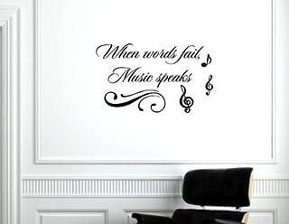 When Words Fail, Music Speaks - 乙烯基墙贴语录词