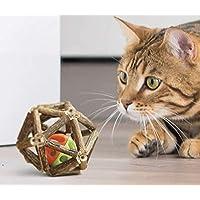 lanermoon 天然猫薄荷玩具 猫咪用银球玩具 猫薄荷棒 磨牙棒 磨牙牙牙咀嚼玩具 带铃铛