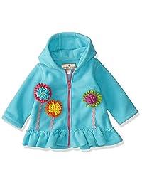 American Widgeon 女宝宝连帽花朵贴花羊毛外套