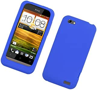 Eagle Cell SCHTCONEVS02 Barely There Slim and Soft Skin Case for HTC One V - Retail Packaging - Blue