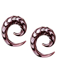 Pierced Owl 紫色螺旋锥形耳钉,成对出售