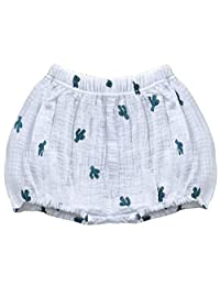 LOOLY Baby Bloomers 中性款女婴男童棉麻混纺短裤