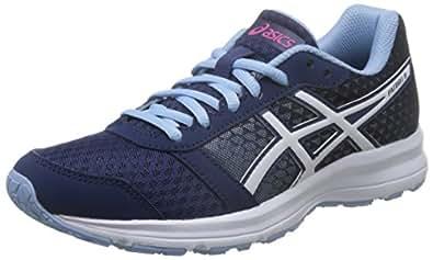 ASICS 亚瑟士 女 跑步鞋 PATRIOT 8  T669N-4901 深蓝色/白色/紫色 36