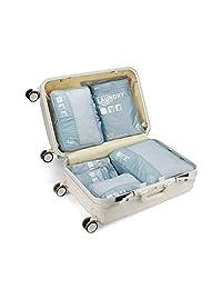 收纳袋 - 服装收纳包 旅行手提箱洗衣袋 收纳袋 7 件套