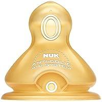 德国NUK宽口 乳胶 小圆孔1号 奶嘴2个装(适用0-6个月)