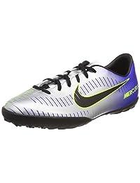 Nike Unisex Kids' Jr Mercurialx Vctry Vi Njr Tf Football Boots, Blue (Racer Blue/Black-Chrome-Volt 407), 4UK Child