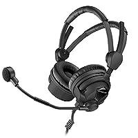Sennheiser HMD 26-II-600-X3K1 广播耳机,600 Ohm 阻抗,ActiveGard,动态麦克风