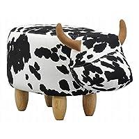 AIS·I·S(AIS)动物凳 白色/黑色 座面高36cm ウシ