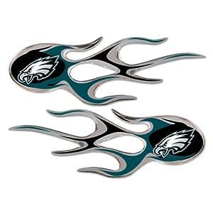 Team ProMark NFL 费城老鹰微型火焰贴花,2 件装