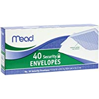 Mead #10 Security Envelopes, 40 Count (75214)