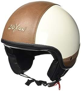 SOXON SP-301-URBAN Biker Vespa-头盔复古切碎机机机车头盔飞行员复古 Jet-Helmet Mofa 滑板车头盔,ECE 认证,皮革设计,包括 布袋 M (57-58cm) Sp301 Urban creme - M