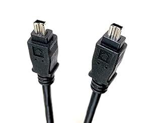 Micro Connectors, Inc. 6 英尺 Firewire IEEE 1394 6 针公头到 6 针公头电缆 (E07-206) E07-222 Firewire IEEE (4 Pin-M to 4 Pin-M) 15 ft