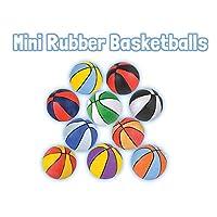 5 英寸迷你橡胶篮球,4 件装,多种颜色,小号篮球非常适合初学者,室内或室外使用,派对用品或*品