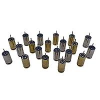 子弹推销钉,10 个金色和 10 个银色子弹推销。 手工制作 .40 口径拇指钉,黄铜和镍钉,用于固定公告和软木板。