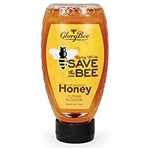 GloryBee Save the Bee Pure Unfiltered Clover Blossom Honey, 16 Ounce