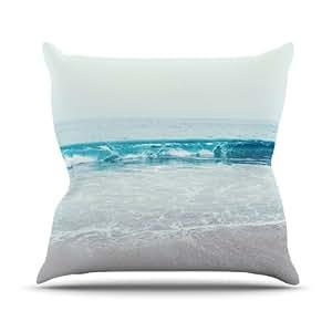 Kess InHouse Nastasia Cook 水晶透明海洋波浪室内/室外抱枕 16L x 16W in. 透明 NC1004AOP02