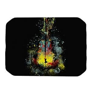 Kess InHouse Frederic Levy-Hadida 午夜 Syphony 餐具垫,18 x 13 英寸