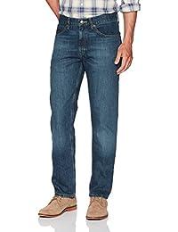 Lee 男式修身直筒牛仔裤