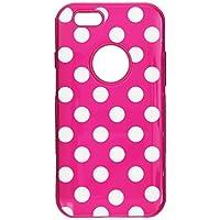 MyBat iPhone 6 混合保护套-零售包装-白色圆点/粉红色