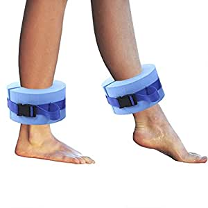 ASSR 配对泡沫游泳水力袖口,水中有氧浮动环健身锻炼套装健身脚踝臂带带快速释放扣用于游泳健身训练训练