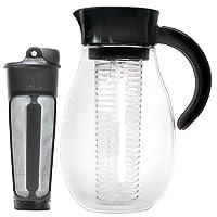 Primula PFUBK-3927 口味冷酿造机和注入式罐,2.7 夸脱,黑色