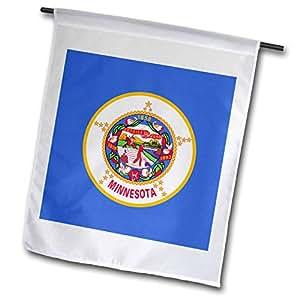 fl_158376 InspirationzStore 旗帜 - 明尼苏达旗 - 美国州 美国 美国 - 蓝色 印度 在马赛封上 - 旗帜 12 x 18 inch Garden Flag fl_158376_1