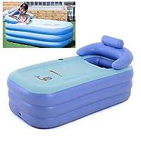PVC 便携式浴缸柔软充气浴缸便携式成人浸泡浴盆 75 厘米高 自由站立旅行浴缸儿童空气游泳池