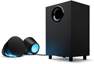 Logitech Logitech G560 PC 游戏超环绕立体声扬声器,带游戏驱动 RGB 照明(UK 插头)