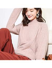 唐岚 秋冬圆领羊绒衫女韩版加厚套头毛衣简约宽松针织衫麻花羊毛打底衫