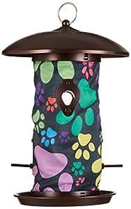 Toland Home 花园小狗爪子 36.83 x 24.13 厘米装饰 4 口悬挂艺术野鸟种子喂食器 202044