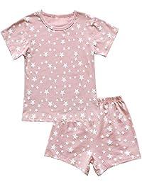 TUTU 女童睡衣套装短袖睡衣儿童短睡衣套装  粉色星星 4T