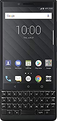 BlackBerry KEY2 黑色解锁 Android 智能手机 (AT&T/T-Mobile) 4G LTE(黑色,6