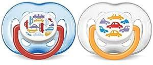 AVENT 新安怡 时尚 安抚奶嘴 2个装(6-18个月) (产地:英国)(颜色随机) SCF172/22
