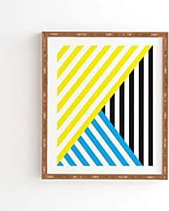 Deny Designs Three of The Possessed Wave Tricolour 带框墙壁艺术,27.94 厘米 x 33.02 厘米,多色