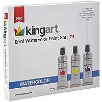 KINGART 514-24 12 mll 套装,24 支水彩颜料,混色
