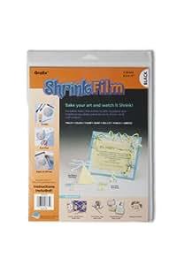Grafix KSF6-B 8-1/2-Inch by 11-Inch Shrink Film, Black, 6-Pack
