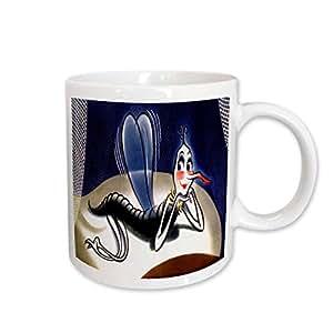 3dRose Madam Malaria Mosquito Ceramic Mug, 15-Ounce