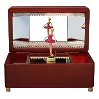 芭蕾舞者八音盒 葡萄酒 白鸟湖 粉红色人偶