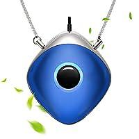WOOLALA 沃拉 百搭空气净化器项链个人空气净化器颈部负离子发生器 旅行办公用 电池寿命长 蓝色 WLAir003Blue