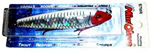 Mirrolure Series III S7MR Floater, Red/White Back and Belly, 3-5/8-Inch