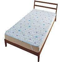 (赛诗丽) Cecile 可爱图案鼠标垫床单 D 小花ペイズリー(ブルー) シングル(100×205cm)