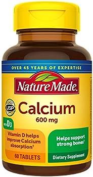 Nature Made 每片含鈣(碳酸鈣)600 mg +維生素D3 400 IU(3件裝)
