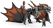 Mega Construx GKG97 權力的游戲 丹妮莉絲與龍 拼插玩具,735塊并手辦