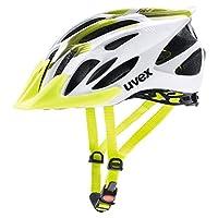 Uvex 男女通用闪光头盔自行车,白色/黄色,56-62