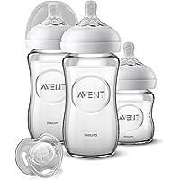 Philips 飛利浦新安怡 天然奶瓶套裝 SCD303/01 適合新生兒(120和260毫升)0m+,玻璃,3瓶