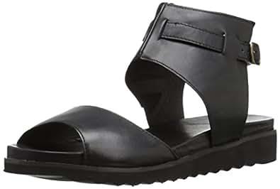 Miz Mooz 女 凉鞋 KOREN Black 黑色 38 (US 7.5) (亚马逊进口直采,美国品牌)