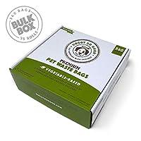 可生物降解垃圾袋 | 狗狗垃圾袋,无香味,植物性环保,优质厚实防漏,易于拆开,支持救 Bulk Box (360 ct)