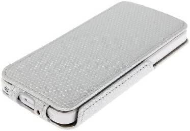 Spherical Texture Up and Down 开皮质手机壳适用于 iPhone 5 和 5S(银色)